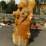 Märchensäule aus Holz ( Eichenholz ) Rückseite